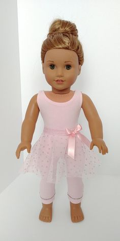 Ballet . 18 inch doll clothing. American girl .18 inch doll clothes. Ballerina suit and skirt