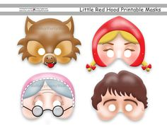 Little Red Riding Hood Party Supplies | Life's Little CelebrationsLife's Little Celebrations Printable masks