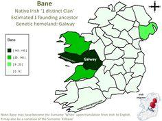 Bane (McBane, Mebane) Irish Origenes: Use Family Tree DNA to Discover Your Genetic Origins   Clans of Ireland   Irish Surnames Map