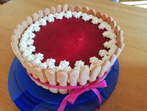 Mohn-Topfen Torte mit Himbeerspiegel - lacky-bakings Webseite!
