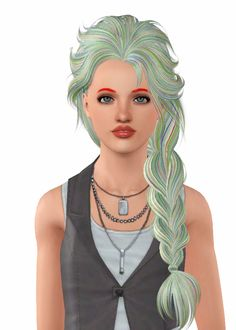 """Skysims 206 """" • Female Child-Elder • Less Float, No Accessory only • 2 Versions: EA & Mix. Click the pictures to see which to download. •…"""