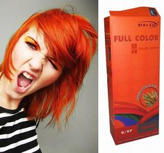 Premium Permanent Hair Color Cream Dye Goth Cosplay Emo Punk BRIGHT ORANGE by Starlist *** Check this awesome product by going to the link at the image. (This is an affiliate link) Hair Color Cream, Hair Color Purple, Brown Hair Colors, Orange Hair Dye, Cosplay, Permanent Hair Dye Colors, Gold Hair, About Hair, Hair Makeup