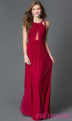 Long Faviana Prom Dress with Open Back  at PromGirl.com