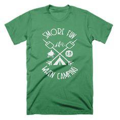 Funny Camping T Shirt Mountain Hiking Tee Shirt Smores Camp Tshirt Funny Tees