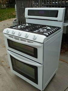 Kitchen+Aid+Gas+stove+with+double+oven,+model+KGRS505XWH