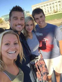 "Chris Soules and Whitney Bischoff Pose With Locals in Downtown Des Moines ""Found the bachelor lol,"" the fan writes of her star-studded run-in. Better yet, though, how great do Chris and Whitney look together?"