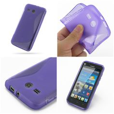 PDair Soft Plastic Case for Huawei Ascend Y511 (Purple/S Shape pattern)
