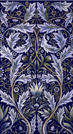William Morris Membland Tile Panel. More history as well backsplash and fireplace adaptations at WilliamMorrisTile.com