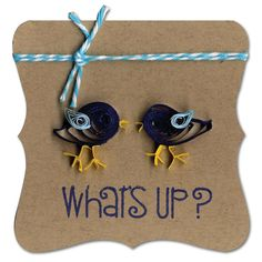 Quilled Birds Mini Card