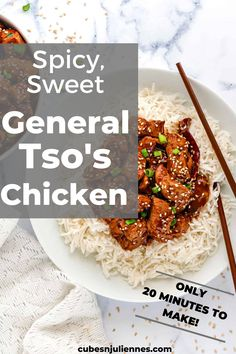 #instantpot #glutenfreeWith a perfect spicy, sweet and sour hint, make this easy Instant Pot General Tso Chicken in less than 20 minutes. A quick, healthy and gluten free dinner reciepe you'll be hooked on! You have to try it out! Serve with hot steamed rice and this delicious Chinese meal will be your forever favorite. It's so addictive!#dinnerecipes #cubesnjuliennes