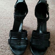 Franco Fortini Slightly worn black sandal Shoes Heels