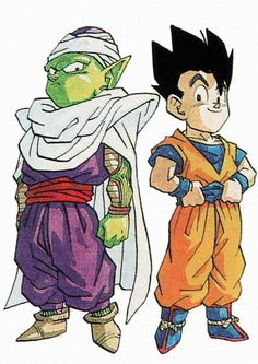 Aw! Chibi Piccolo and Gohan! The chibi sketches always made me think of bobbleheads.