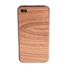 Wooden iPhone 4/4S Skin. Without distracting from the clean aesthetics of the iPhone, this wooden case provides superior protection from accidental drops and scratches.  $15.00