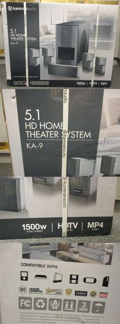 Home Theater Systems: Kamron Audio Ka-9 5.1 Hd Home Theater System New In Box -> BUY IT NOW ONLY: $150 on eBay!
