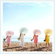 Paper parasols...Luna Bazaar | Boho & Vintage Style Décor | Wedding Decorations