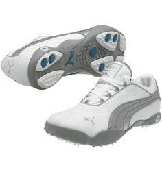 PUMA Womens Sunny II Golf Shoe - White/PUMA Silver/Gray at Golf Galaxy