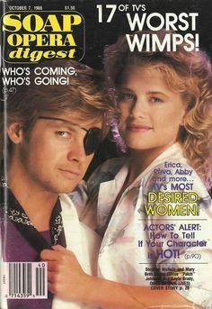 Stephen Nichols & Mary Beth Evans (Steve & Kayla #DAYS) 10/7/86 http://classicsodcovers.tumblr.com/
