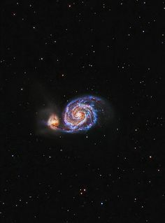 astrophotography Whirlpool galaxy, M 51, NGC 5194 | by Moonrocks Astro