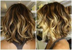 Balayage highlights for short hair!