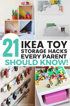 21 IKEA Toy Storage Hacks Every Parent Should Know! - Vogelsbergerin - 21 IKEA Toy Storage Hacks Every Parent Should Know! 21 IKEA toy storage hacks will help you to get organised on a minimum budget - Ikea Toy Storage, Storage Hacks, Diy Storage, Toy Storage Solutions, Baby Toy Storage, Storage Units, Storage Design, Nerf Gun Storage, Stuffed Animal Storage