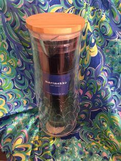 New Marimekko Carafe and Cups Blues Lokki Drinkware 5 Piece Set for Patio Party #Marimekko