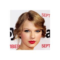 The Year's Best Red Lips ❤ liked on Polyvore featuring taylor swift, hair and makeup