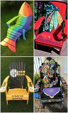 10 Adirondack Chair Decor Ideas for Your Patio via @1001Gardens