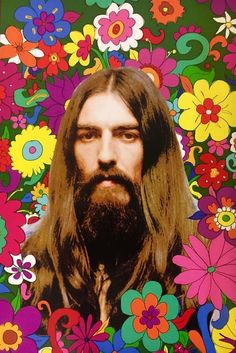 George Harrison Floral Art Poster