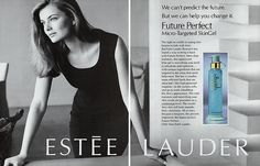 1991 Estee Paulina Porizkova Lauder Magazine Ad | eBay