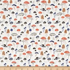 Designed by Rae Ritchie for Dear Stella Designs, this cotton print collection features lovely woodland creatures and whimsical illustrations. Colors include white, orange, blue, grey, taupe, and peach.