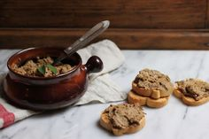 Tuscan Chicken Liver Crostini on Food52