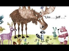 Something's Wrong by Jory John; illustrated by Erin Kraan | Book Trailer Book Trailers, Bestselling Author, Moose Art, Funny Pictures, Hilarious, Illustration, Books, Animals, Fanny Pics