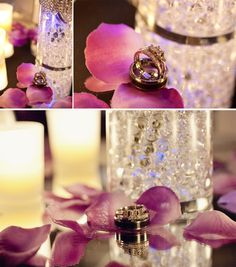red and purple wedding theme | pink and purple centerpiece | When I ...