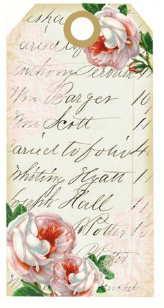 Roses and lace tags