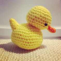 Rubber Duck Amigurumi Pattern This little guy takes an uninterrupted twenty minutes to make! Materials I Used: Yellow Acrylic Yarn Orange Acrylic Yarn 6mm Safety Eyes Yarn Needle Polyfil...