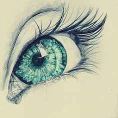 unknown ~ pencil drawing prettyiest eye i have seen in my life!! i want eyes like this!!!!