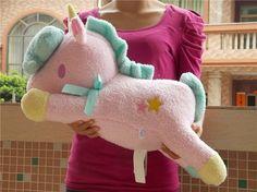 "Sanrio Little Twin Stars Pink //Blue//White Unicorn Pillow Cushion Plush Toy 23/"""