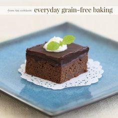 Coconut Flour Brownies with Chocolate Ganache