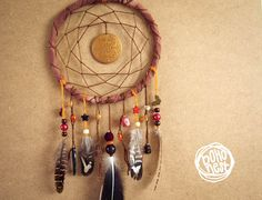 Unique Dream Catcher  Golden Autumn  With Lots of by bohonest #dream #catcher #decor #decoration #hippie #hipster #boho #native #american #indian #tribal #feather #feathers #home #bedroom #nursery #mobile #dreamer #unique #boho nest