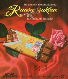 Mainos: Ruusu-suklaa All Kinds Of Everything, Retro Candy, Old Commercials, Good Old Times, Retro Design, Graphic Design, My Childhood Memories, New Things To Learn, Old Toys