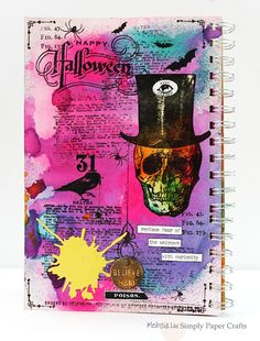 Meihsia Liu Simply Paper Crafts Halloween Tim Holtz Watercolor Simon Says Stamp Monday 600