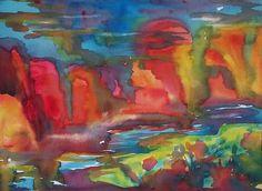 Wild Southwest Canyon Sunset by Ellen Levinson
