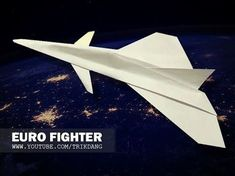 BEST PAPER JET FIGHTER - How to make a paper airplane that FLIES FAST & FAR | F-22 Raptor - YouTube