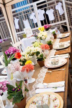 Beautiful garden party tablescape!