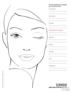 Croqui x Face Chart Face Template Makeup, Le Face, Mac Face Charts, Face Stencils, Makeup Workshop, Makeup Face Charts, Face Sketch, Face Painting Designs, Creative Makeup