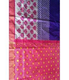 Multicolor Handloom Ikkat Silk Saree