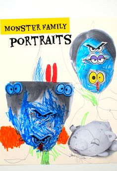 Spooky Monster Family Portraits- Easy and Fun Preschool Halloween Activity