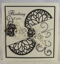 PartiCraft (Participate In Craft): Thinking Of You Making Greeting Cards, Greeting Cards Handmade, Sue Wilson, Tonic Cards, Spellbinders Cards, Heartfelt Creations, Sympathy Cards, Flower Cards, Anniversary Cards