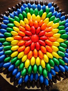 Food cake decorating ideas on pinterest m m cake for M m cake decoration