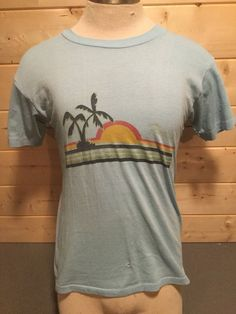 Vintage 1980's Florida Beach Surf T-Shirt 50/50 Thin and Soft by 413productions on Etsy